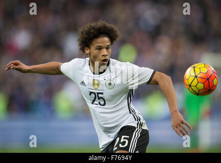 Paris, France. 13th Nov, 2015. Germany's Leroy Sane during the international friendly match between France and Germany - Stock Photo