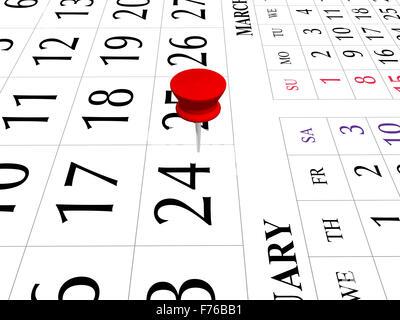calendar 2009 - Stock Photo