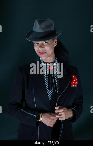 A portrait of Pauline Black in Charlotte Square Gardens during The Edinburgh Book Festival. This photo has been - Stock Photo