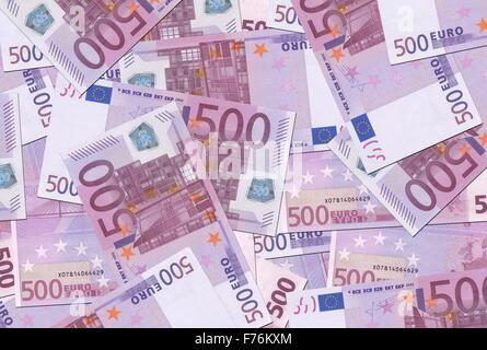 500 Euro Notes Texture - Stock Photo