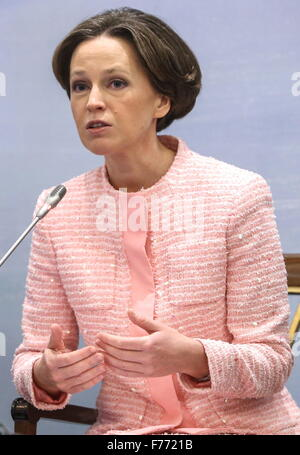 Moscow, Russia. 26th Nov, 2015. Yekaterina Trofimova, first vice president, member of the Management Board at Gazprombank, - Stock Photo