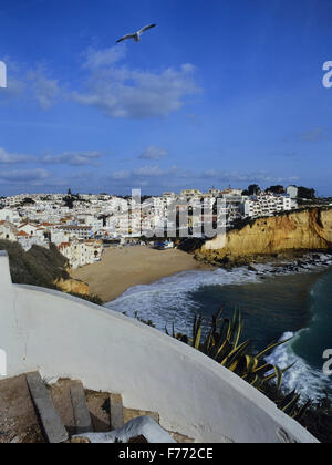 Praia de Carvoeiro. Lagoa. Algarve. Portugal. Europe - Stock Photo