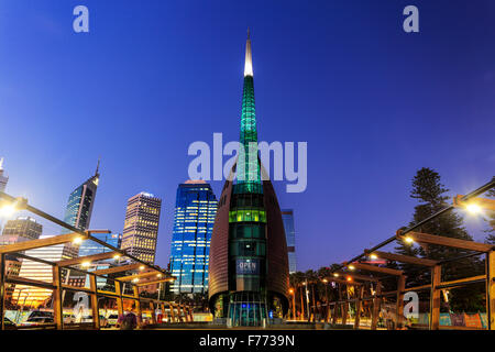 The Bell Tower at Barrack Square, Perth, Western Australia. - Stock Photo