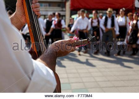Traditional Serbian folk dance 'kolo'. - Stock Photo