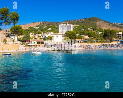 Bay of Peguera, Mallorca, Balearic Islands, Spain - Stock Photo