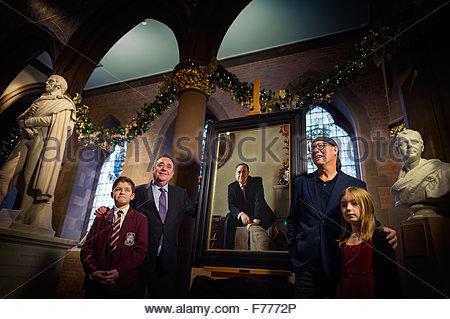 Edinburgh UK Nov 26 2015;  Alex Salmond MP and former First Minister of Scotland at the Scottish National Portrait - Stock Photo
