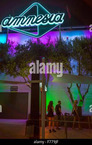 Entrance to Amnesia club in Ibiza - Stock Photo