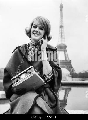 audio guide,tour Eiffel,Paris,France.1964 - Stock Photo