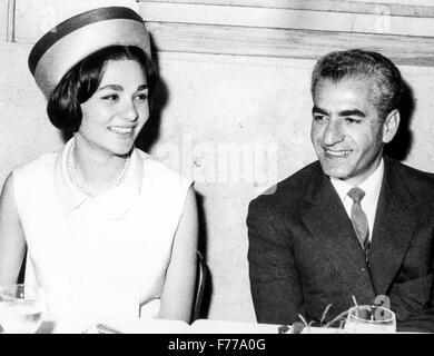 Mohammed Reza Pahlavi and Farah Diba,tehran,iran,1959 - Stock Photo