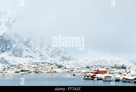 Reine village, Lofoten - Stock Photo