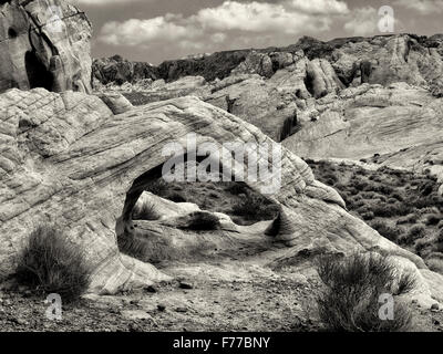 White Arch. Valley of Fire State Park, Nevada - Stock Photo