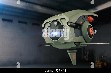 3D  render of a sci-fi drone - Stock Photo