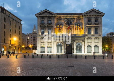 Hotel de Ville, Old town hall, Marseille, France - Stock Photo