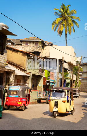 Sri Lanka - Colombo, tuk-tuk taxi, typical way of transportation - Stock Photo