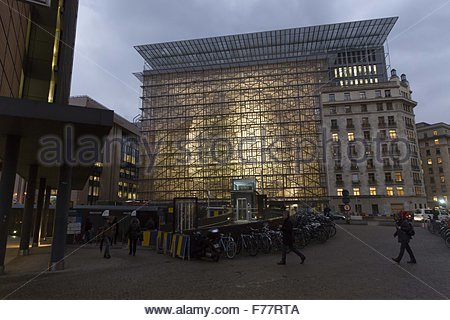 Brussels, Belgium. 25th Nov, 2015. EU's new council building in Brussels, Belgium, November 25, 2015. The Europa - Stock Photo