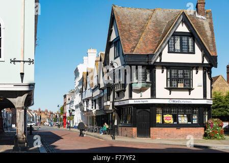 Court Street from Market Place, Faversham, Kent, England, United Kingdom - Stock Photo