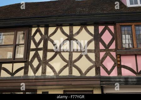 Historic timber-framed building, West Street, Faversham, Kent, England, United Kingdom - Stock Photo