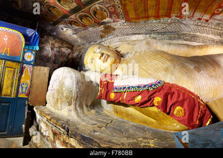 Sri Lanka - Buddish Cave Temple Dambulla, UNESCO World Heritage Site - Stock Photo