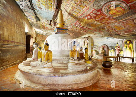 Sri Lanka - Buddish Cave Temple Dambulla, Kandy province, UNESCO World Heritage Site - Stock Photo