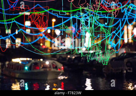 Amsterdam, The Netherlands, 26th November 2015: Paths Crossing, by Ralf Westerhof,, at the fourth annual Amsterdam - Stock Photo