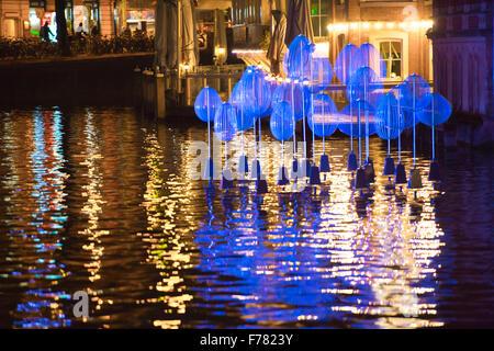 Amsterdam, The Netherlands, 26th November 2015: Holon Light, by Michiel Martens & Jetske Visser, at the fourth annual - Stock Photo