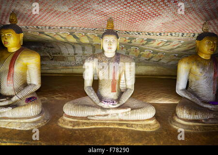Sri Lanka - Buddish Cave Temple Dambulla, Kandy province, UNESCO World Heritage Site - Stock Photo