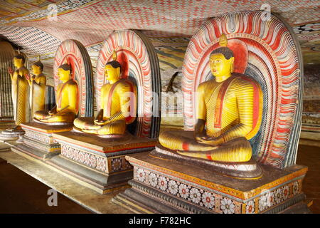 Buddish Cave Temple Dambulla, Sri Lanka, Kandy province, UNESCO World Heritage Site - Stock Photo