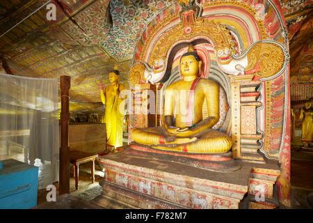 Buddish Cave Temple Dambulla, Sri Lanka, Kandy province, UNESCO World Heritage Site - Stock Photo