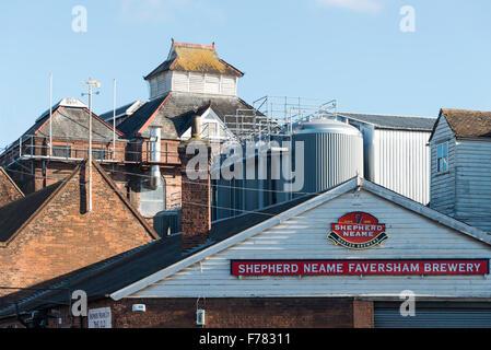 Shepherd Neame Faversham Brewery, Bridge Road, Faversham, Kent, England, United Kingdom - Stock Photo
