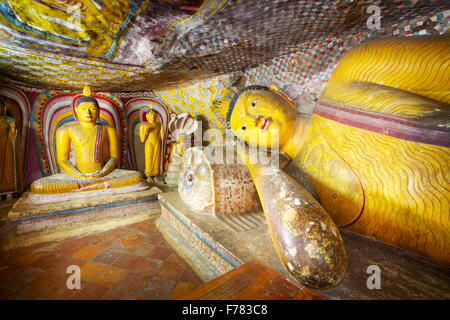 Sri Lanka - Buddish Cave Temple Dambulla, Kandy province, UNESCO World Heritage Site, Sri lanka - Stock Photo