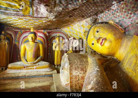 Sri Lanka - Buddish Cave Temple Dambulla, Kandy province, UNESCO World Heritage Site, - Stock Photo