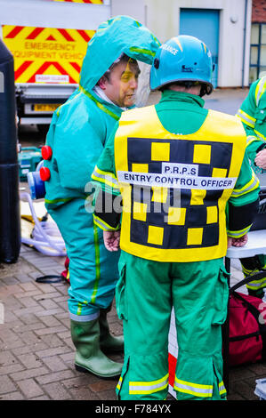 Paramedics wearing Gas Tight Suits (GTS) during the launch ...