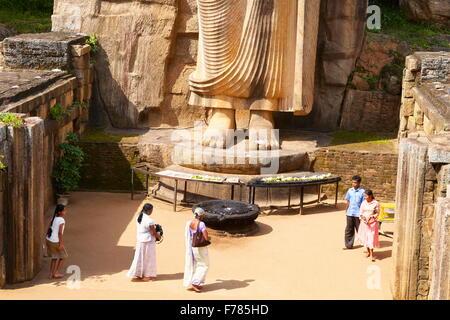 Sri Lanka - Anuradhapura, Buddha Aukana Statue, UNESCO World Heritage Site - Stock Photo