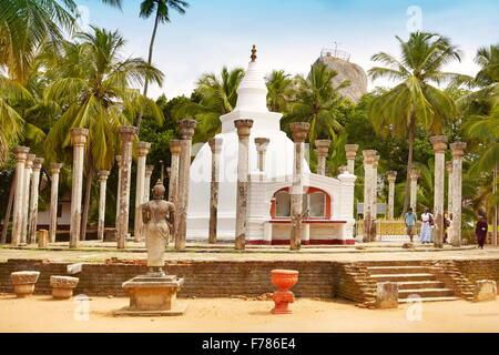 Sri Lanka - Mihintale Temple, Ambasthale Dagoba, UNESCO World Heritage Site - Stock Photo