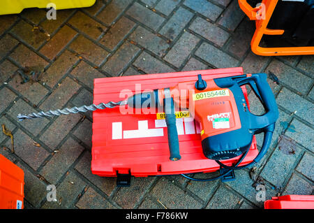 Northern Ireland. 26th November, 2015. A large Hilti SDS drill, used  to drill through concrete Credit:  Stephen - Stock Photo