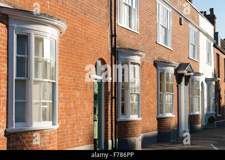 Period houses with bow windows, Abbey Street, Faversham, Kent, England, United Kingdom - Stock Photo