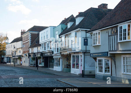 Period houses, Court Street, Faversham, Kent, England, United Kingdom - Stock Photo