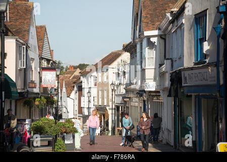 Period houses, West Street, Faversham, Kent, England, United Kingdom - Stock Photo
