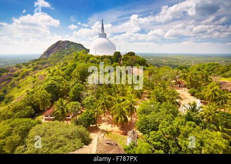 Sri Lanka - Mihintale Temple, view at Mahaseya Dagoba stupa, UNESCO World Heritage Site - Stock Photo