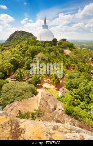 Sri Lanka - Mihintale Temple, view at Mahaseya Dagoba, UNESCO World Heritage Site - Stock Photo