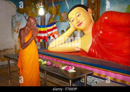 Sri Lanka - Mihintale Temple, Buddha statue, UNESCO World Heritage Site - Stock Photo