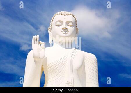 Sri Lanka - Mihintale Temple, Big Buddha statue, UNESCO World Heritage Site - Stock Photo