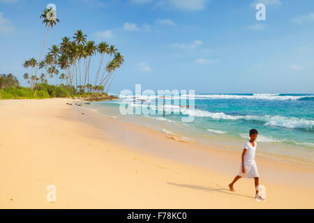 Sri Lanka - Koggala beach, village near Galle - Stock Photo