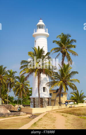 Sri Lanka - Galle, shoreline with lighthouse - Stock Photo