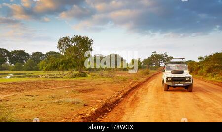 Sri Lanka - Yala National Park, off road jeep safari - Stock Photo