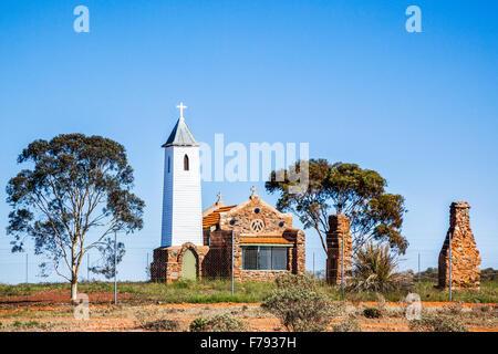 Australia, Western Australia, Mid West, Murchison District, Yalgoo, former Dominican Chapel of St. Hyacinth - Stock Photo