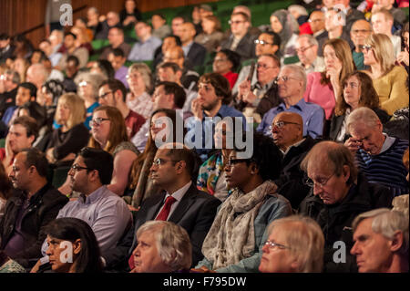 London, UK.  26 November 2015.  Members of the public at People's Question Time, at the Beck Theatre, Hillingdon. - Stock Photo