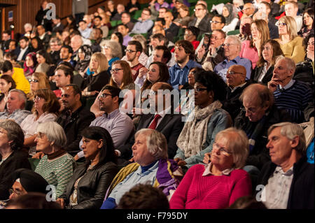 London, UK.  26 November 2015.  Members of the public during People's Question Time, at the Beck Theatre, Hillingdon. - Stock Photo