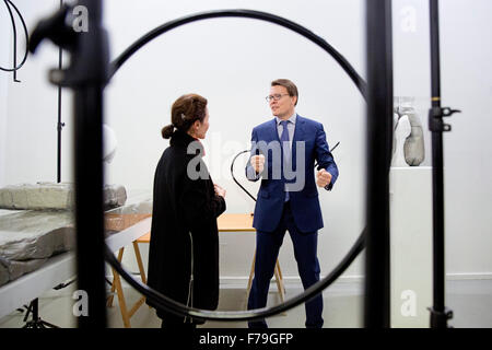 Amsterdam, The Netherlands. 26th Nov, 2015. Prince Constantijn opens the Amsterdam Art Weekend at the Rijksakademie - Stock Photo