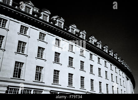 Regent Street in West End of London in England in Great Britain in the United Kingdom UK. Chiaroscuro Architecture - Stock Photo